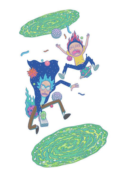 Wallpaper Mural Rick and Morty - Big fall