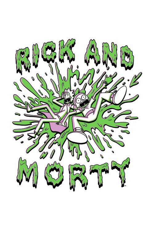 Wallpaper Mural Rick and Morty - The Duo