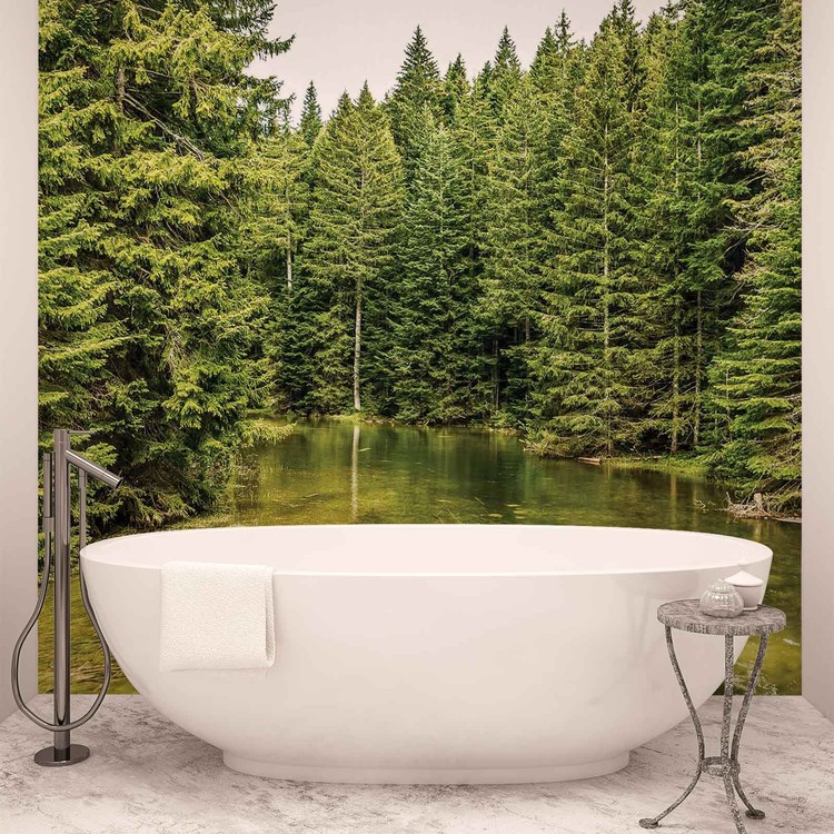 River Forest Nature Wallpaper Mural