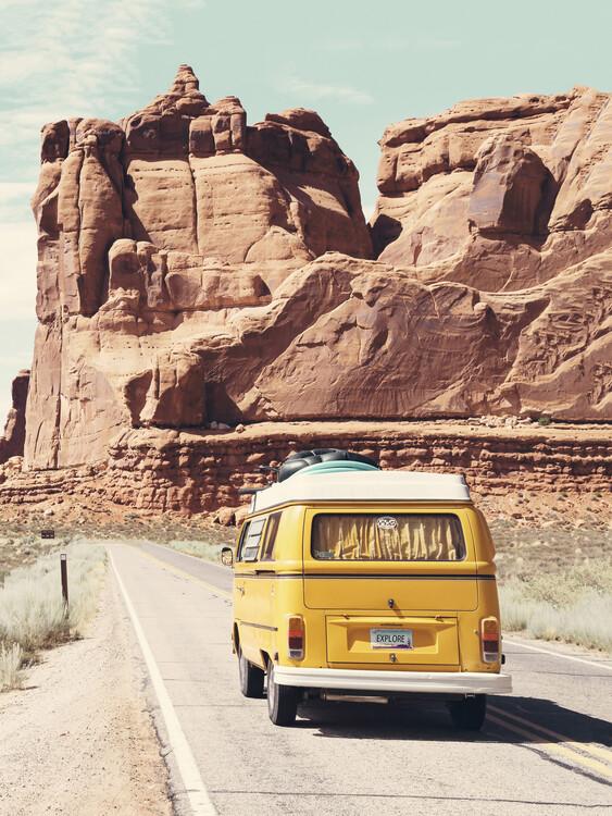 Wallpaper Mural Road Trip