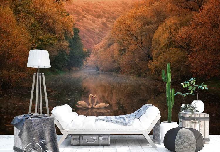 Romantic River Wallpaper Mural