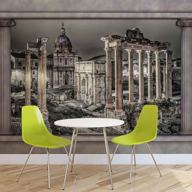 Rome City Ruins Window View Wallpaper Mural