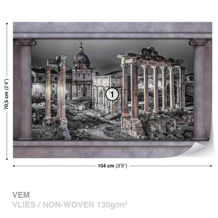 Rome City Ruins Window View Wallpaper Mural