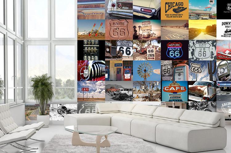 Route 66 Wallpaper Mural