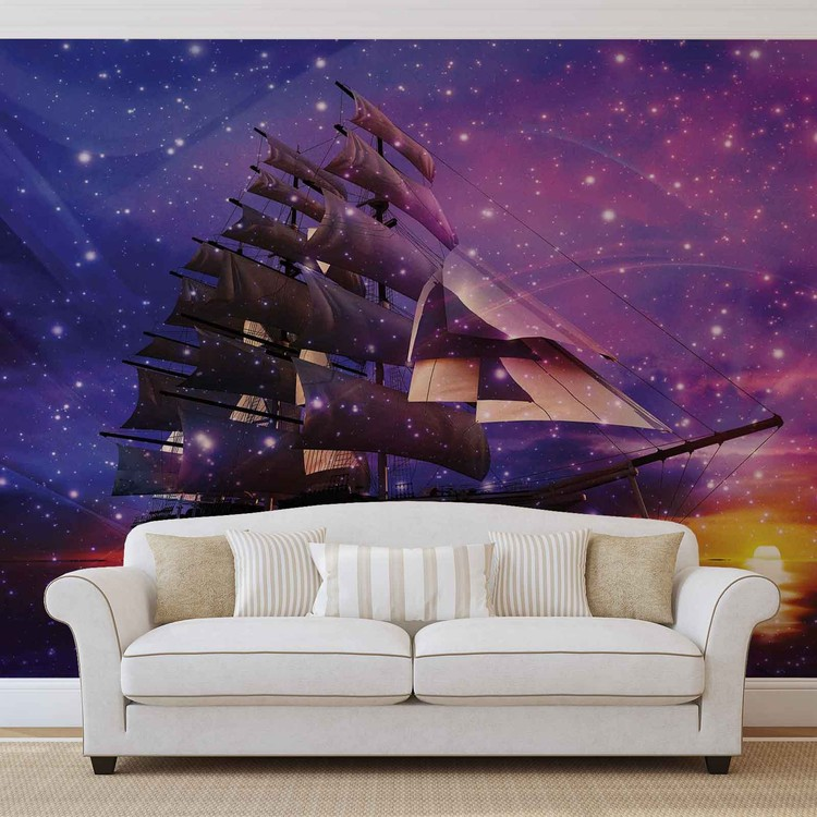 Sailing Ship Wallpaper Mural