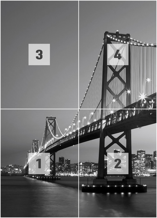 SAN FRANCISCO - skyline Wallpaper Mural