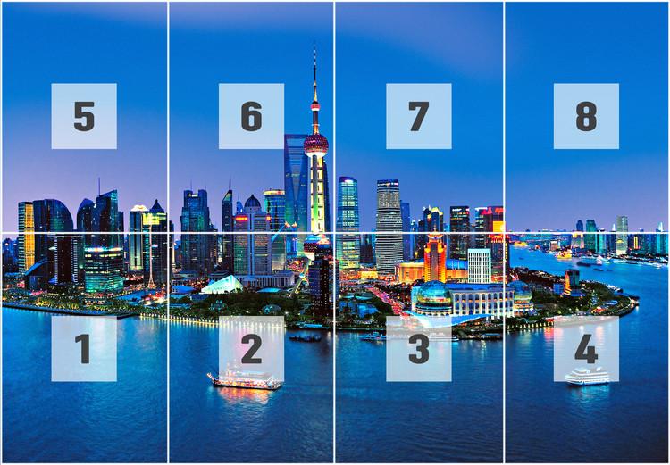 Shanghai Skyline Wallpaper Mural