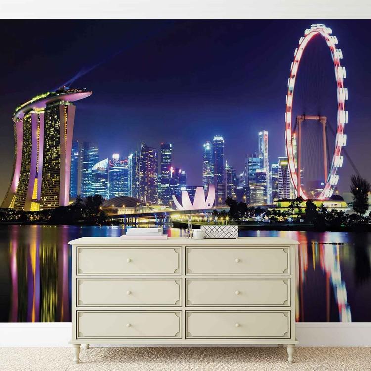 Singapore City Skyline Wallpaper Mural