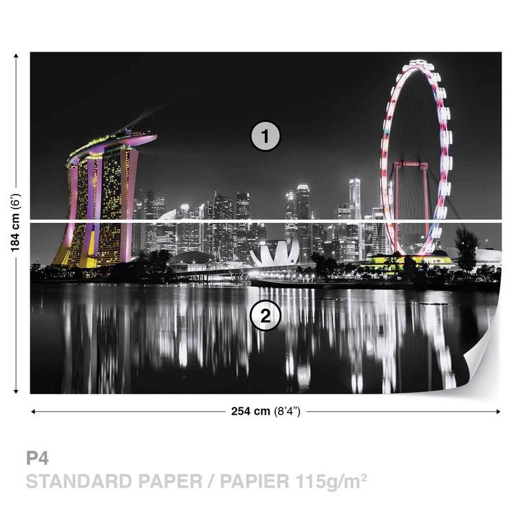 Singapore Skyline Wallpaper Mural