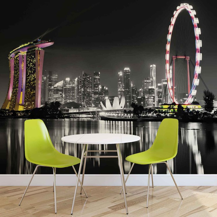 Singapore Skyline Wallpaper Mural