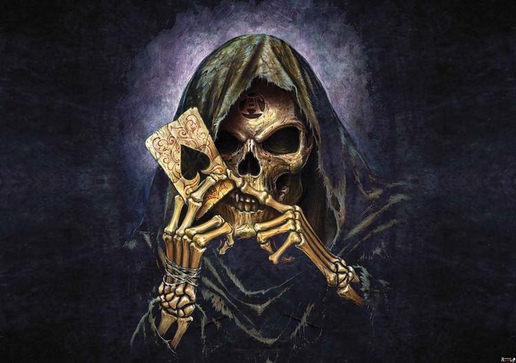 Skull Death Ace Alchemy Wallpaper Mural