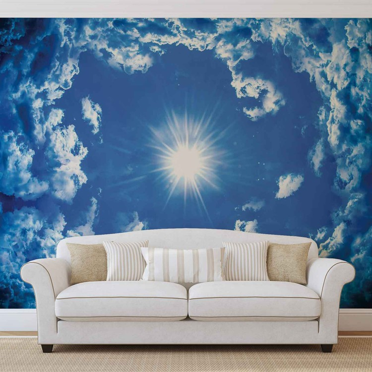 Sky Clouds Sun Nature Wallpaper Mural