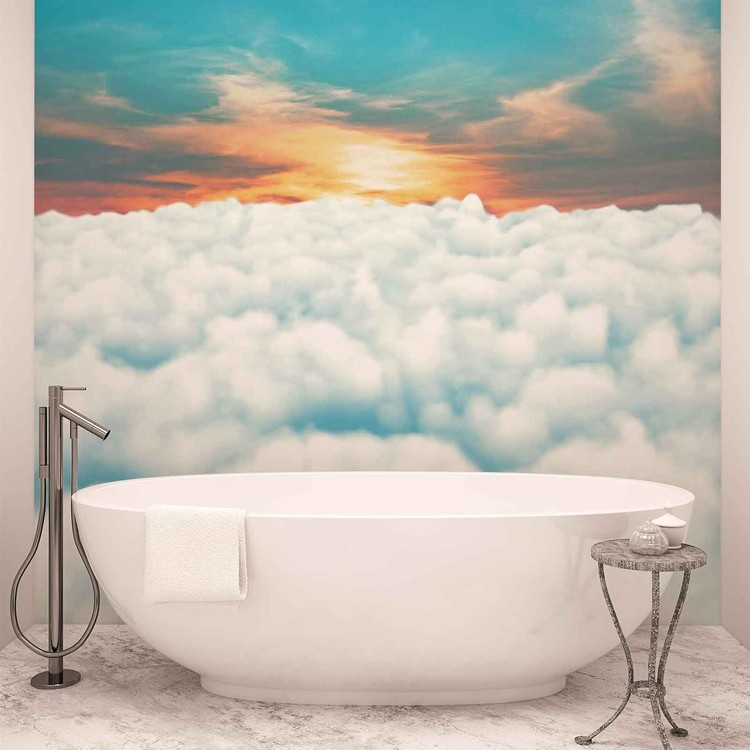Sky Clouds Sunset Wallpaper Mural