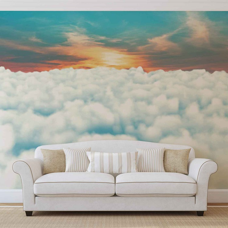 Sky Clouds Sunset Wallpaper Mural