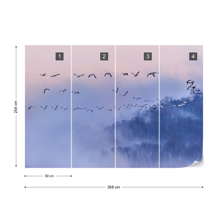Snow Geese Wallpaper Mural