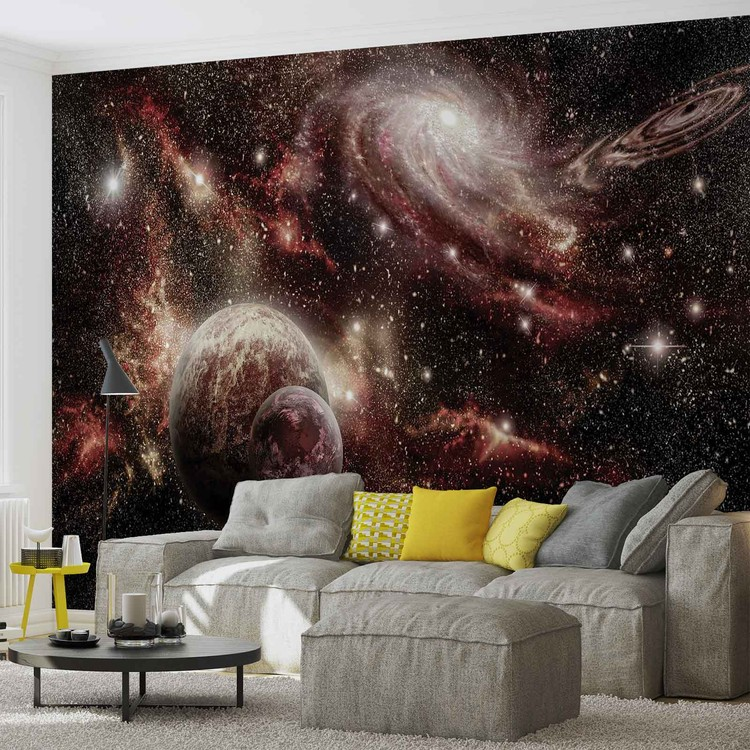 Space Planets Wallpaper Mural