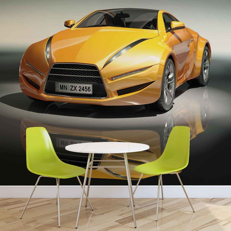Sports Racing Car Wallpaper Mural
