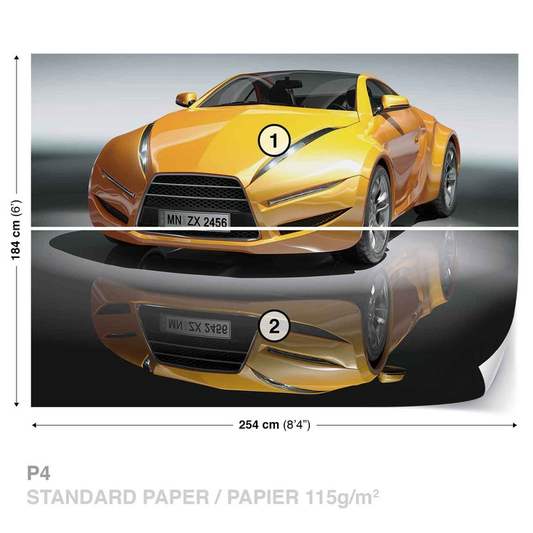 Sports Racing Car Wall Paper Mural Buy at EuroPosters