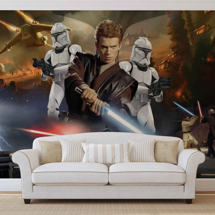 Star Wars Attack Clones Anakin Skywalker Wallpaper Mural