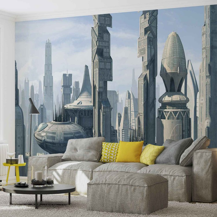 Star Wars City Coruscant Wall Paper Mural Buy at Abposterscom