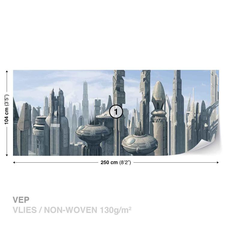 Star Wars City Coruscant Wallpaper Mural