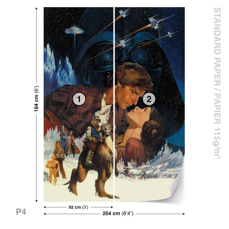Star Wars Empire Strikes Back Wall Paper Mural Buy At Ukposters