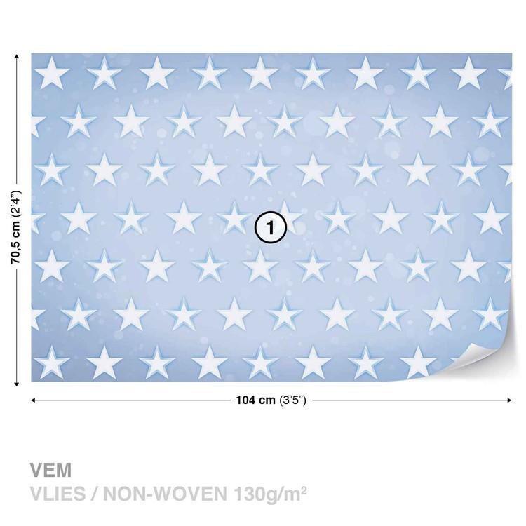 Stars Pattern Blue Wallpaper Mural