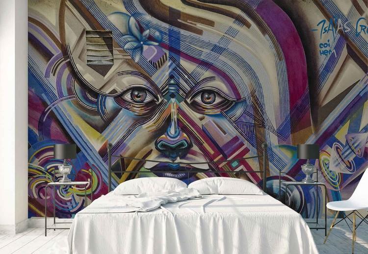 Street Eyes Wallpaper Mural