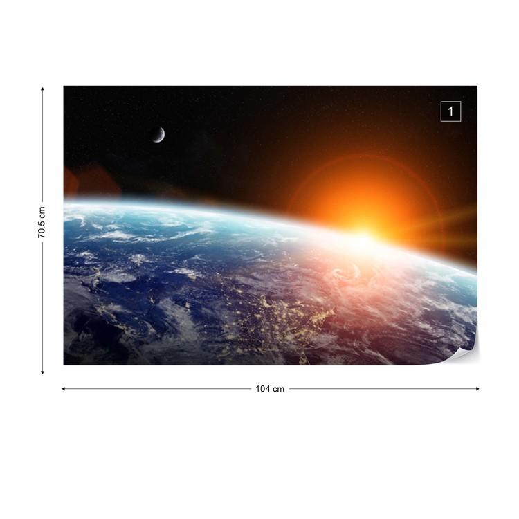 Sunrise Over Planet Earth Wallpaper Mural