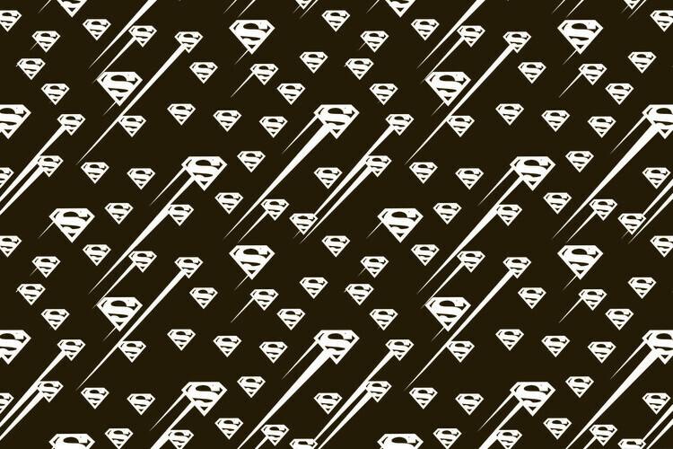 Wallpaper Mural Superman - Black and white symbol