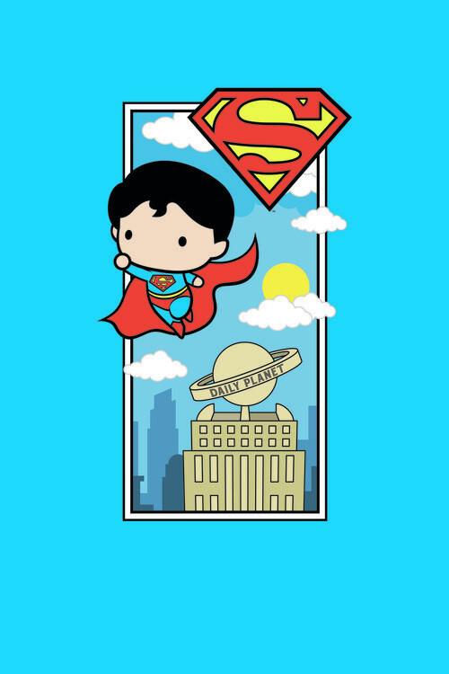 Wallpaper Mural Superman - Chibi