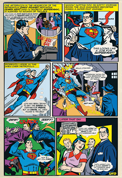 Superman Comic Wallpaper Mural