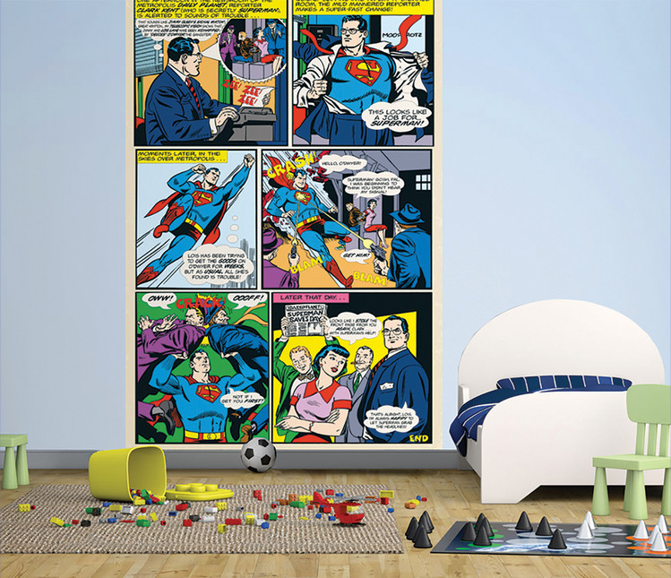 Superman Comic Wallpaper Mural