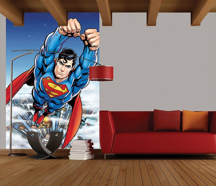 Superman Flying Wallpaper Mural