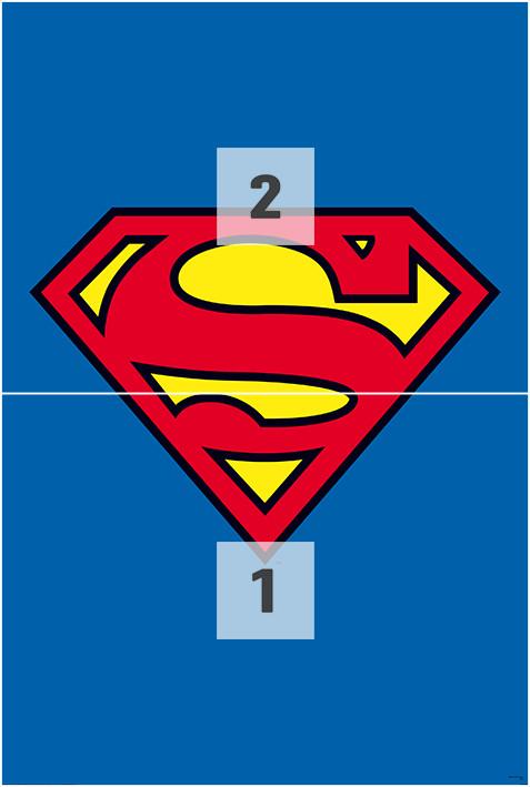 Superman - logo Wallpaper Mural