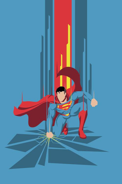 Wallpaper Mural Superman - Power Blue