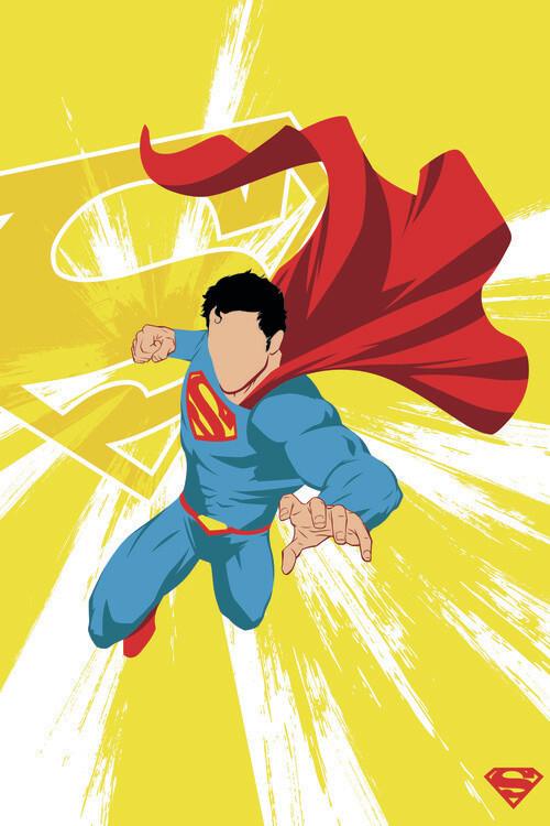 Wallpaper Mural Superman - Power Yellow