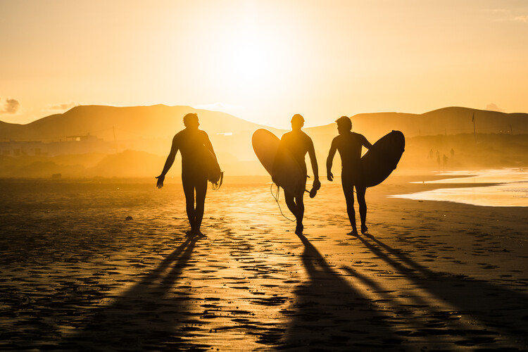 Surf Trio Wallpaper Mural