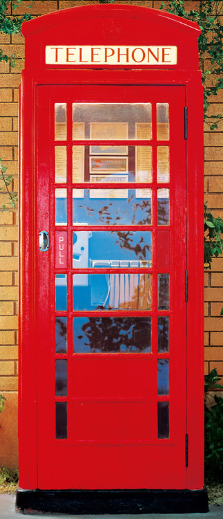TELEPHONE BOX Wallpaper Mural