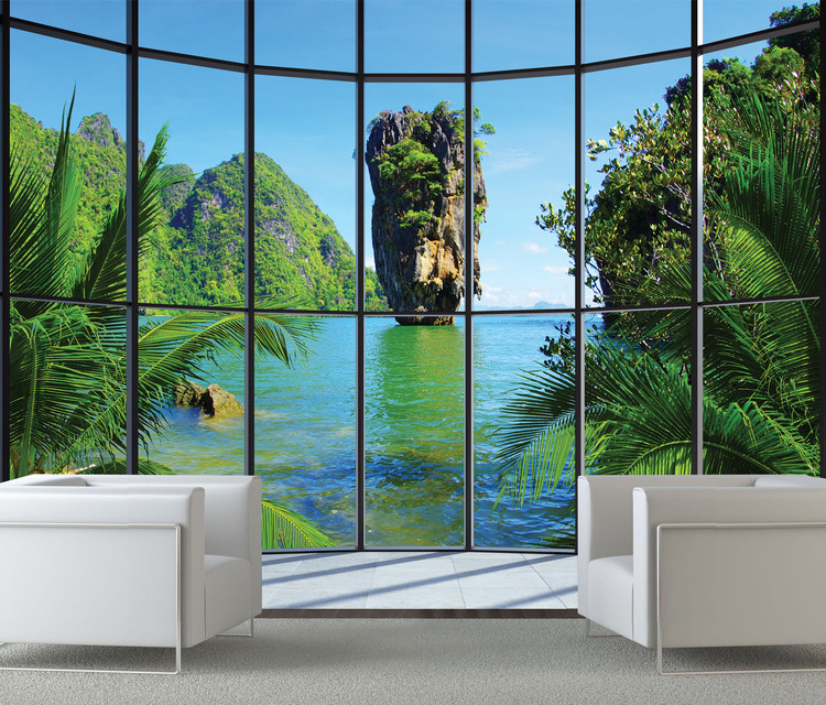 Thailand - Window Wallpaper Mural