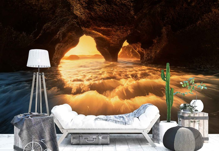The Secret Sea Cave Wallpaper Mural