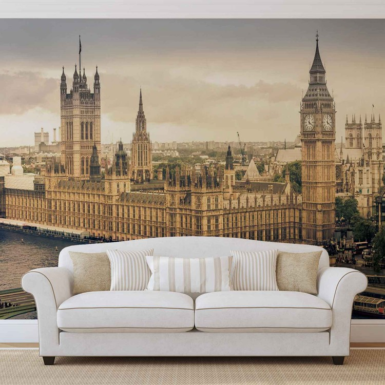 The View Of London Wallpaper Mural
