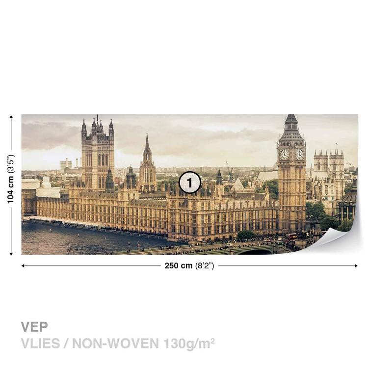 The View Of London Wallpaper Mural