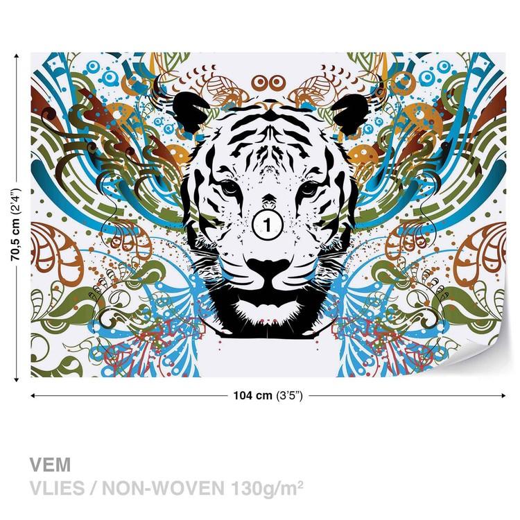Tiger Abstract Wallpaper Mural