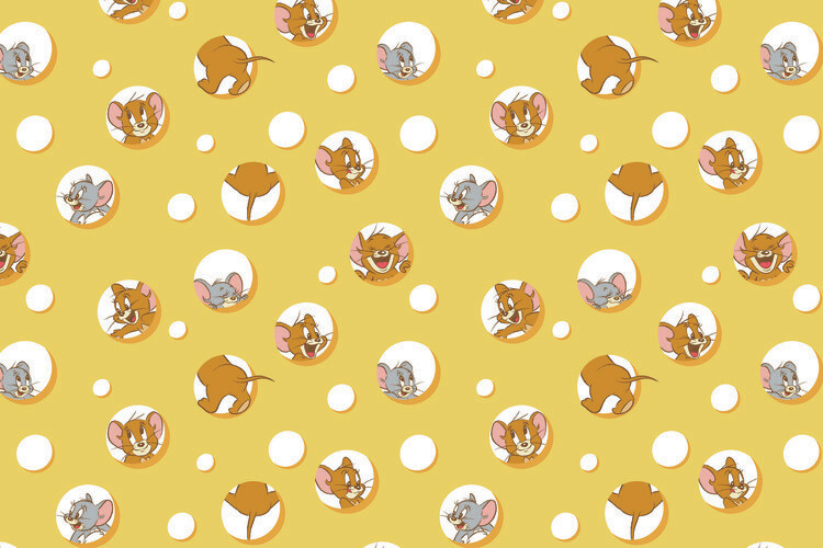 Wallpaper Mural Tom and Jerry - I love Cheese