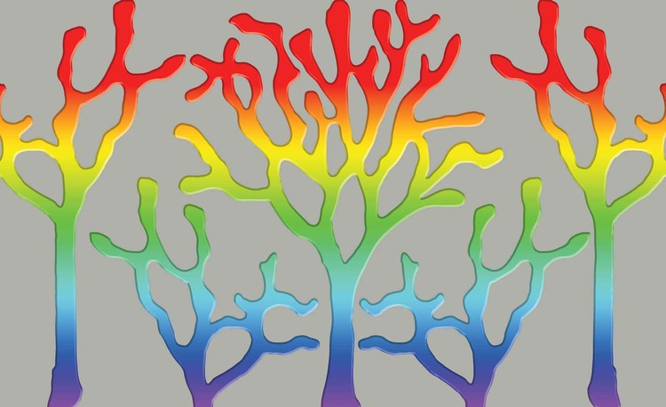 Tree Abstract Rainbow Wallpaper Mural