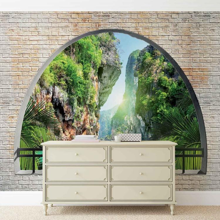 Tropical Arch View Wallpaper Mural