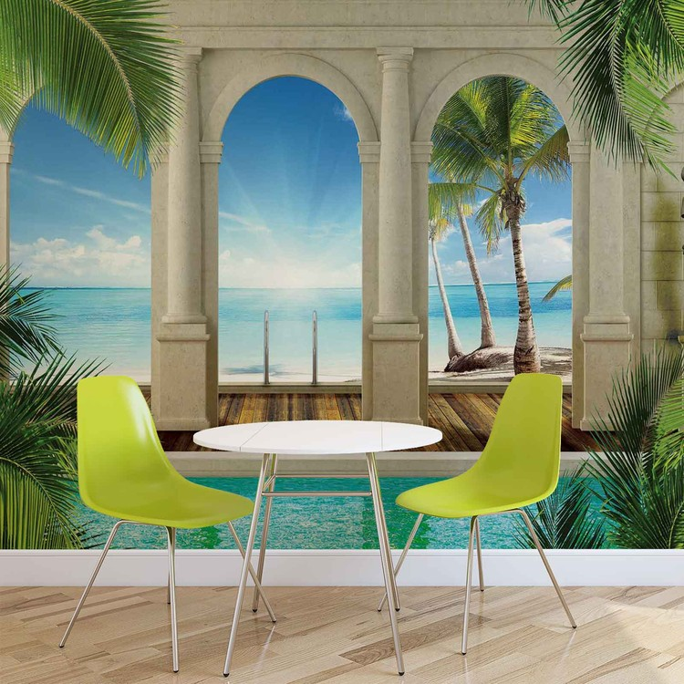 Tropical Beach Wallpaper Mural