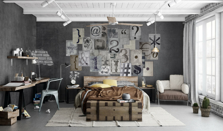 Typography Wallpaper Mural