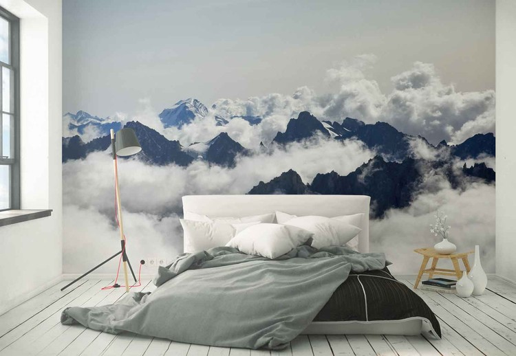 Superbe ... Up In The Clouds Wallpaper Mural ...